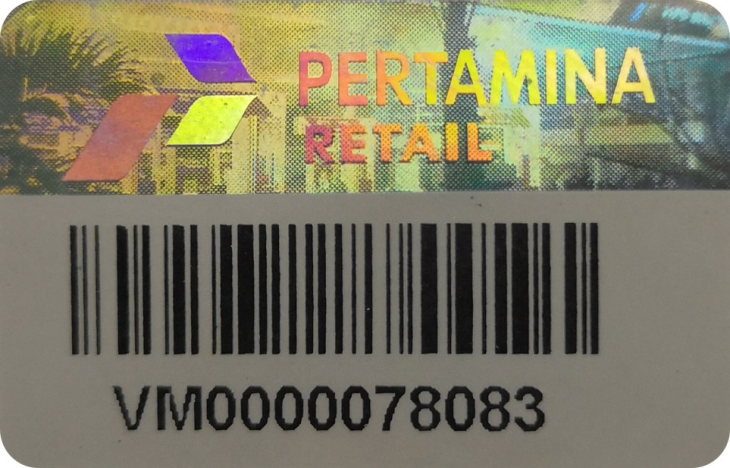 Barcode security label