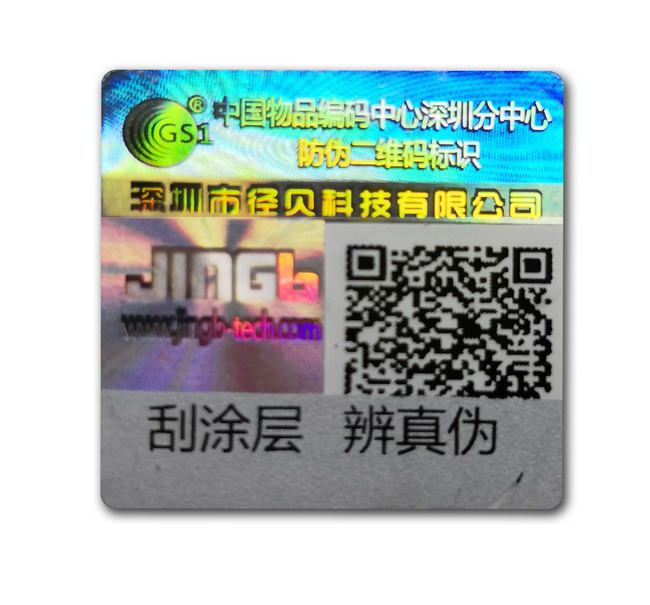Variable QR code security label
